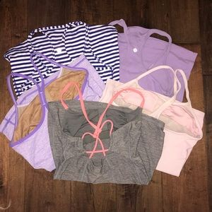 lululemon 5 piece tank top bundle
